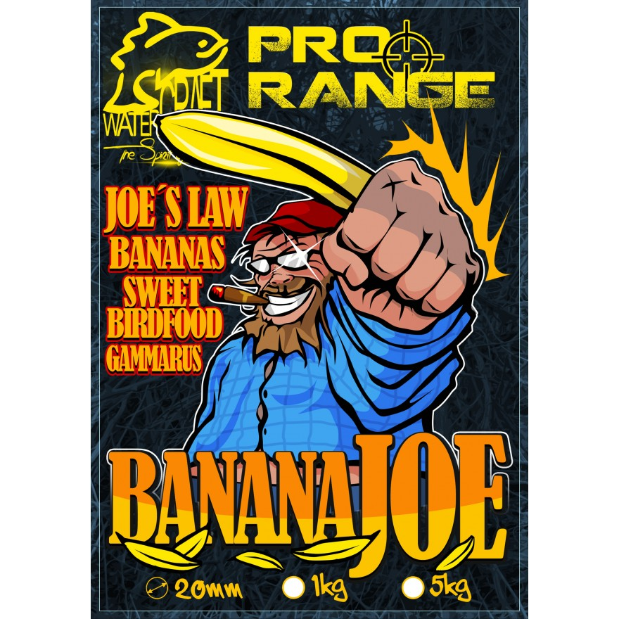 WATERCRAFT Pro Range Banana Joe Boilies 24mm 1kg
