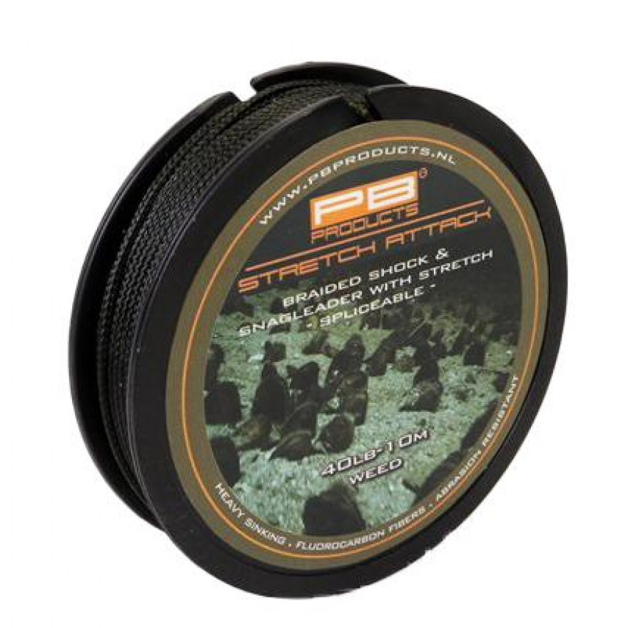 PB Products Stretch Attack Shockleader 40lb Silt 10m