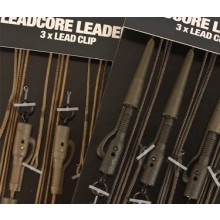 Korda Leadcore Leaders inkl. Lead Clip Gravel brown