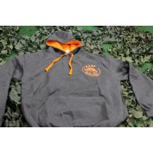 Carpkillers Hoodie grey/neon orange M