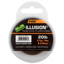 Fox Edges Illusion Leader 20lb 9,1kg 0,40mm trans khaki Fluorocarbon