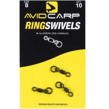 Avid Carp Ring Swivel Size 8