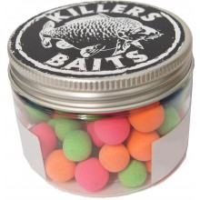 Carpkillers Fluo Pop Up Black Hash 10,12mm 4 Farbig