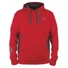 Fox Rage Red Grey Ribbed Hoodie M