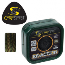 Carp Spirit Re-Action Fast Sinking Braid Brown 25lb