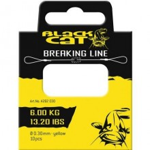 Black Cat Breaking Line 0,30mm 6kg yellow