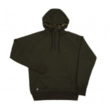 Fox Chunk Dark Olive Quarter Zip Hoody Large